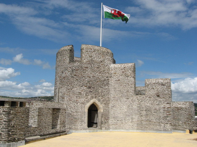 Tower in Caerphilly Castle