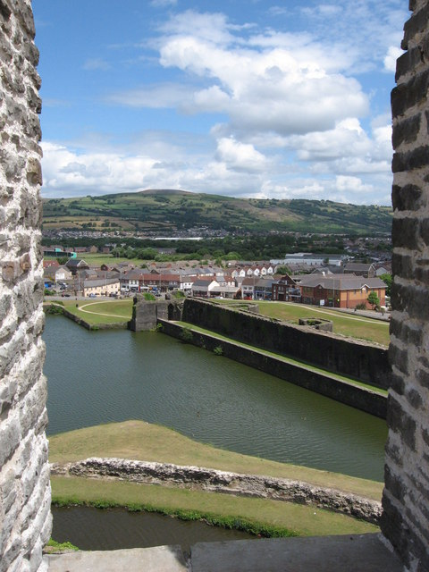View NE from Caerphilly Castle