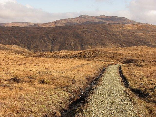 Path, south side of Loch Sealg