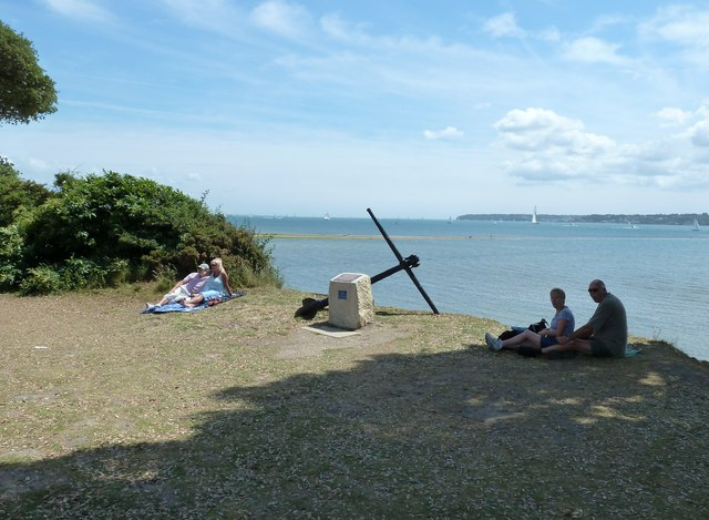 Anchor within Lepe Country Park