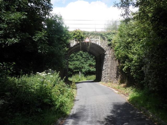 Railway overbridge, east of Okehampton
