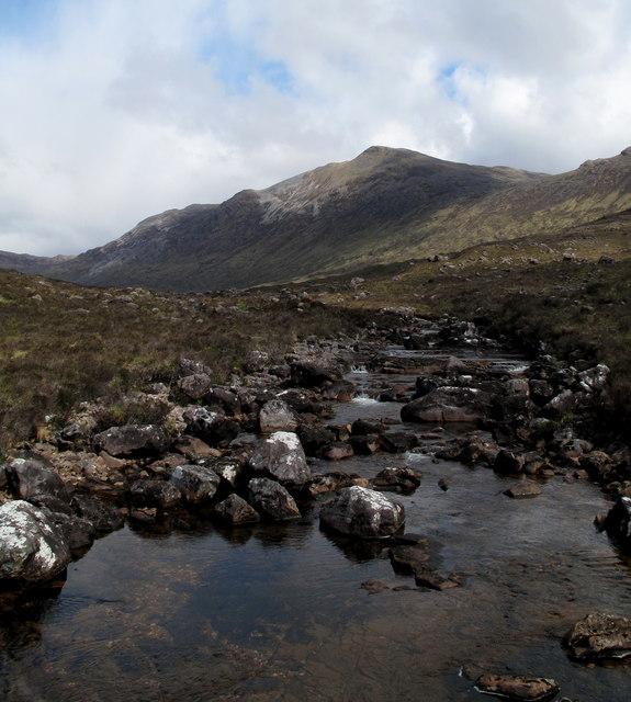Fionn - abhainn with Sgurr Ruadh