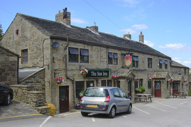 """The Sun Inn"" (Pub) BACK COLNE ROAD, TRAWDEN, LANCASHIRE. BB8 8PG"