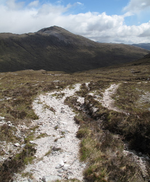 Eroding Footpath on North Side of Meall nan Ceapairean