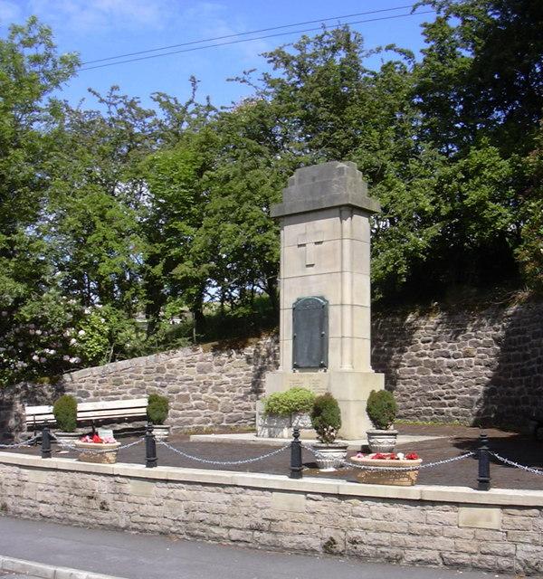 Trawden War Memorial, Lancashire