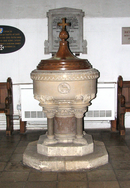 Christ Church in Eaton - Victorian baptismal font