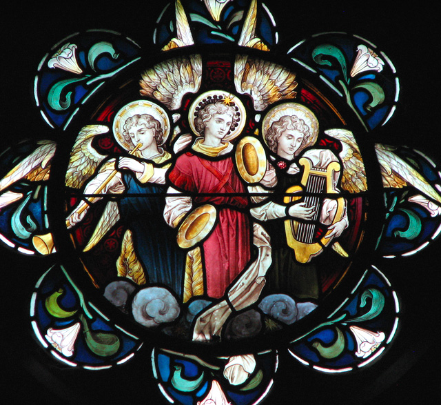 Christ Church in Eaton - north aisle window (detail)