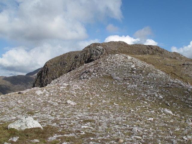 Meall nan Ceapairean Along its West Ridge