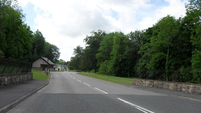 Entrance road to Dovenby Hall