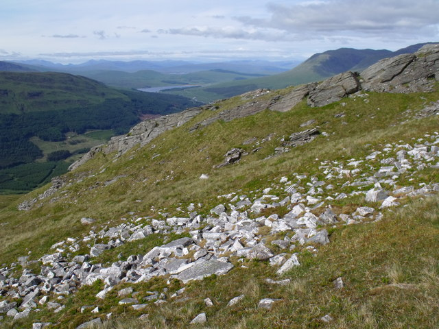 Bedrock change on Beinn Udlaidh near Tyndrum