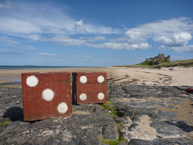 A Three, A Four and A Castle at Bamburgh, Northumberland