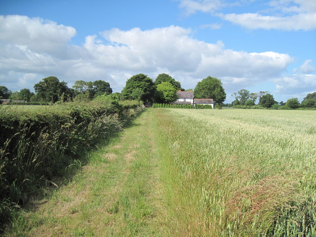 Footpath by Littleton Old Hall