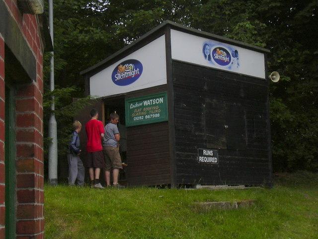 Scoreboard, Colne Cricket Club, Lancashire