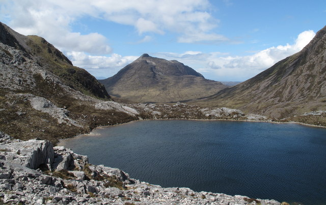 Loch a' Mhadaidh Ruadh With Beinn Damh