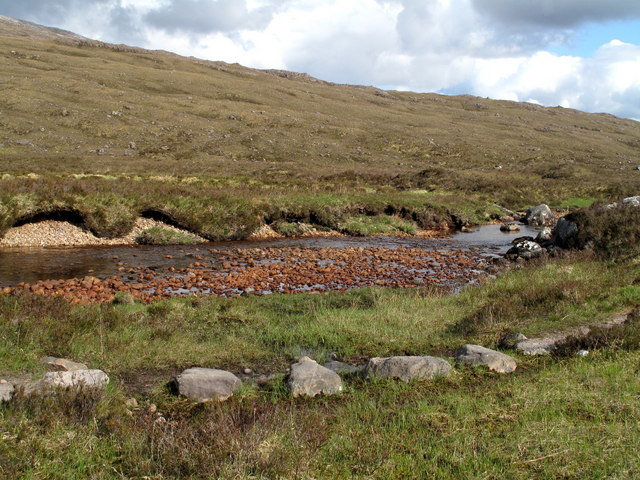 Stepping Stones on Stalkers' Path Beside Fionn - abhainn