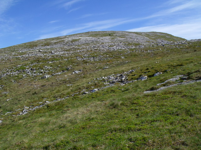 Rocky slopes above mini coire on Beinn Udlaidh near Tyndrum