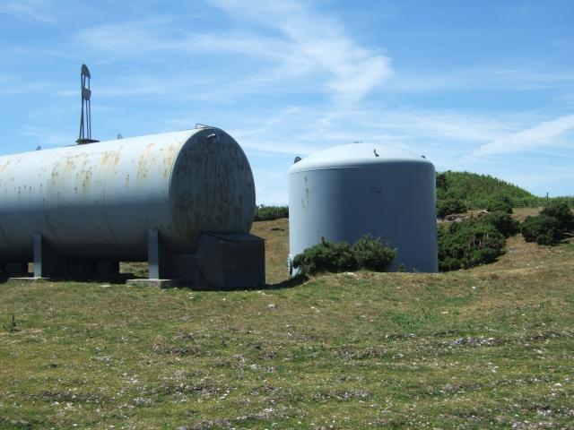 Storage tanks on Bronkham Hill/Corton Down