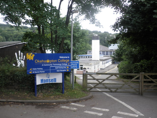 Main entrance, Okehampton College