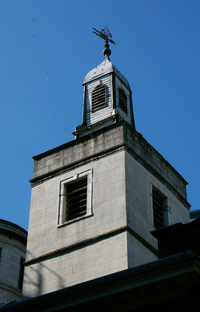 Tower, Lutheran Church of St Anne and St Agnes, Gresham Street, City of London