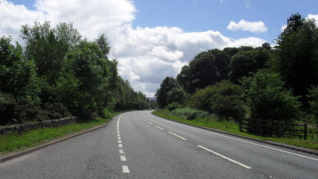 The A66 heading in a southerly direction
