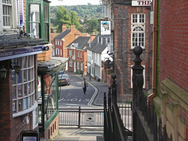 "View down ""The Parade"", Marlborough"