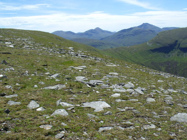 Western side of the summit ridge of Beinn Bhreac-liath near Tyndrum