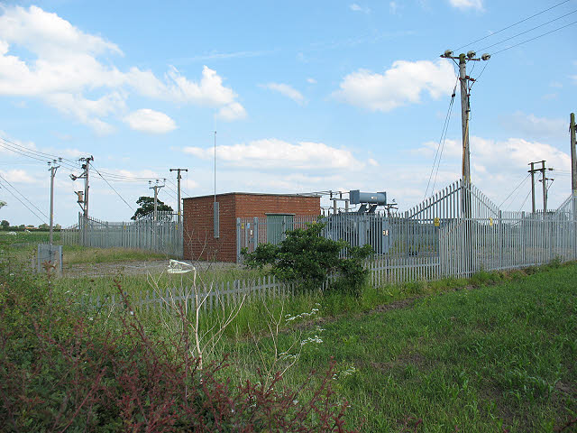 Transformer station on the A54