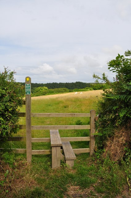 The footpath from Warcombe Lane to Borough Valley