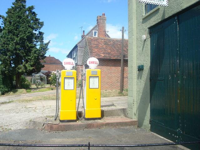 Old petrol pumps, Harrietsham