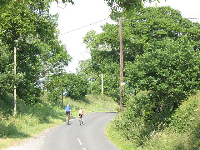 Cyclists on Byley Lane
