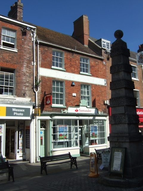In South Street (pedestrianised), Dorchester