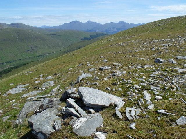 Eastern aspect of Beinn Bhreac-liath near Tyndrum
