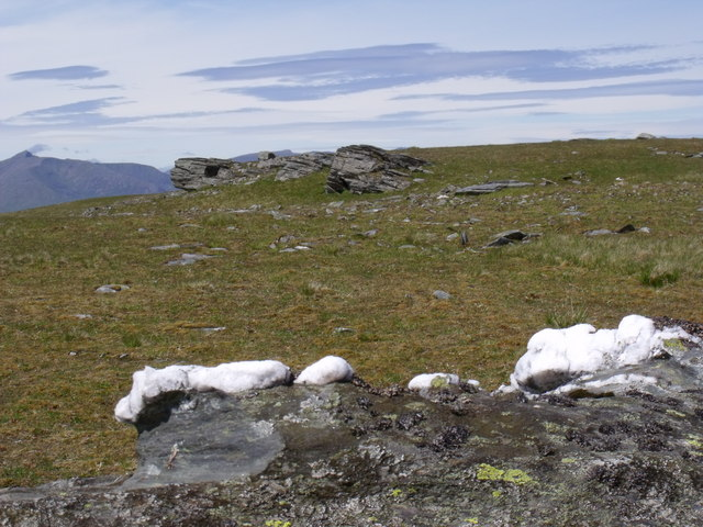 A touch of quartz near the summit of Beinn Bhreac-liath near Tyndrum