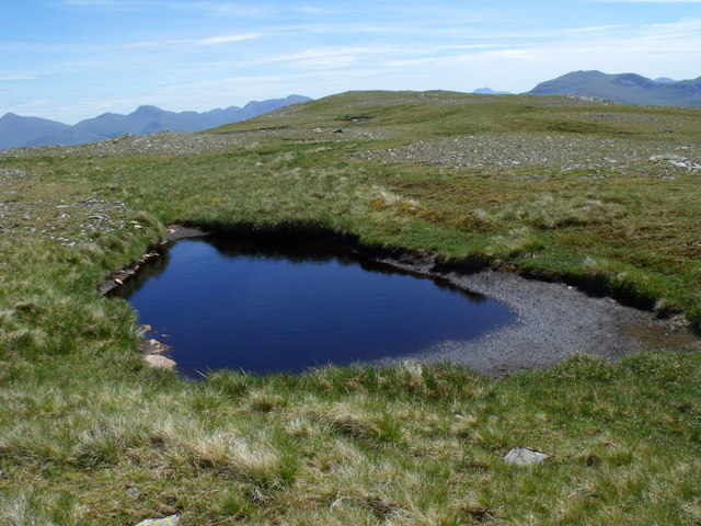 Lochan on summit ridge of Beinn Bhreac-liath near Tyndrum