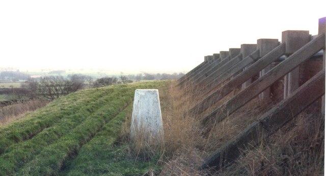 Trig pillar at East Whorley Hill