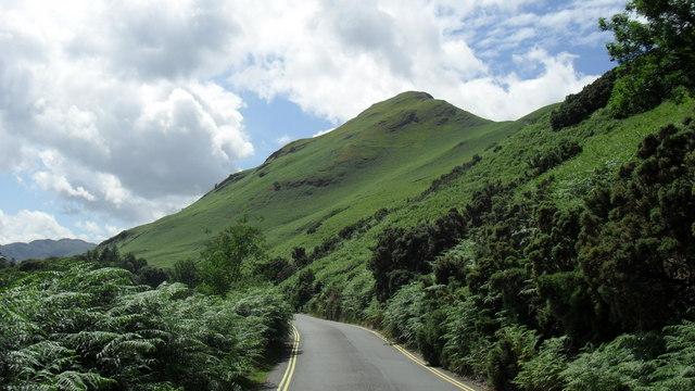 Road heading through the hills above Derwent Water