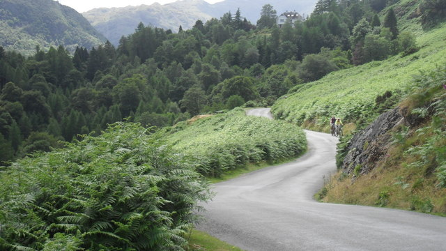 Meandering hill road above Derwent Water
