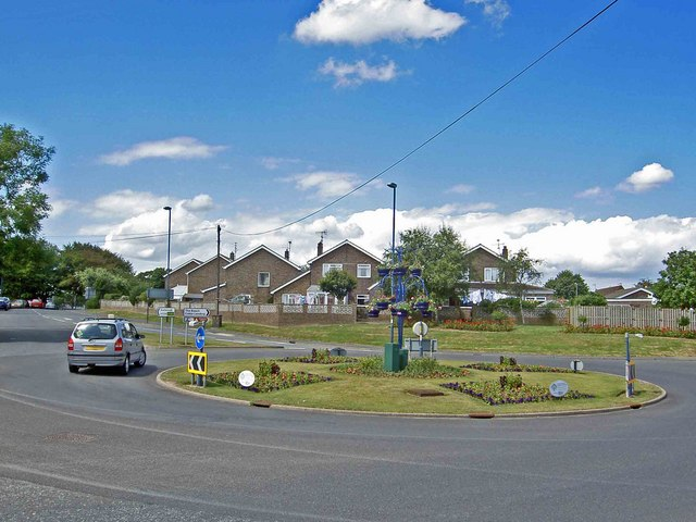 Roundabout on the outskirts of Filey