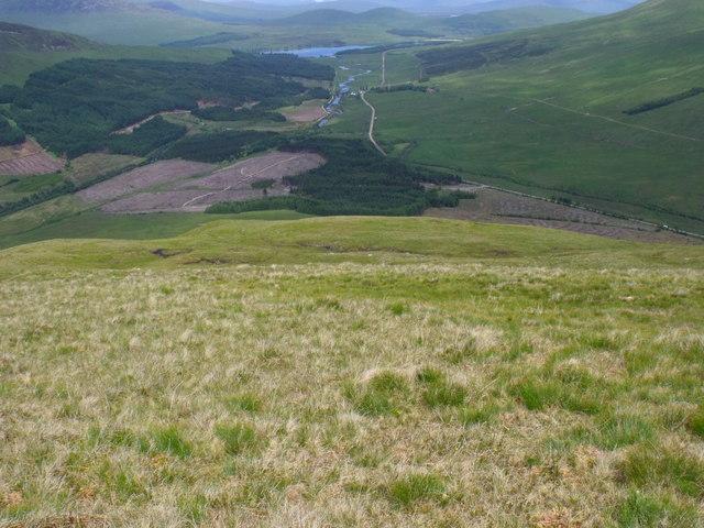 Grassy northern slopes of Beinn Bhreac-liath near Tyndrum