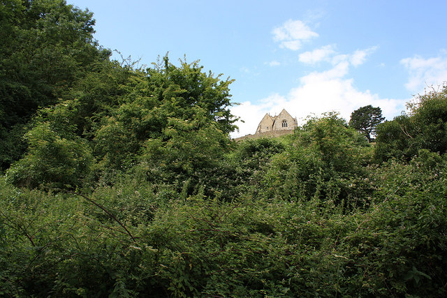Hilltop position of St Bartholomew's Church