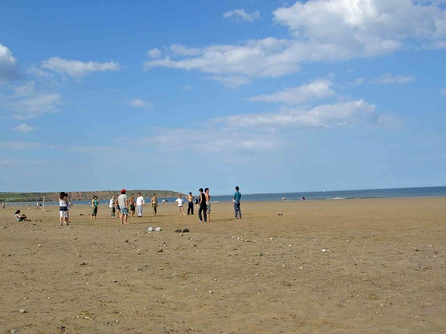 Beach games Muston sands Filey