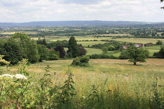 View NE to Cheltenham and the Cotswold Ridge