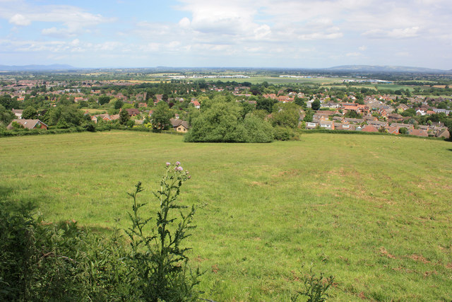 Lower slopes of Churchdown Hill/Chosen Hill