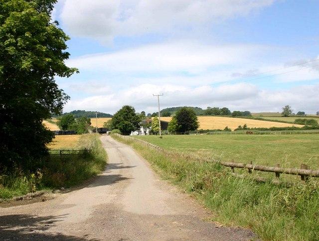 Entrance to Longdon Road Farm