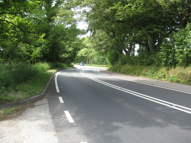 The A594 at Hayborough heading for Maryport