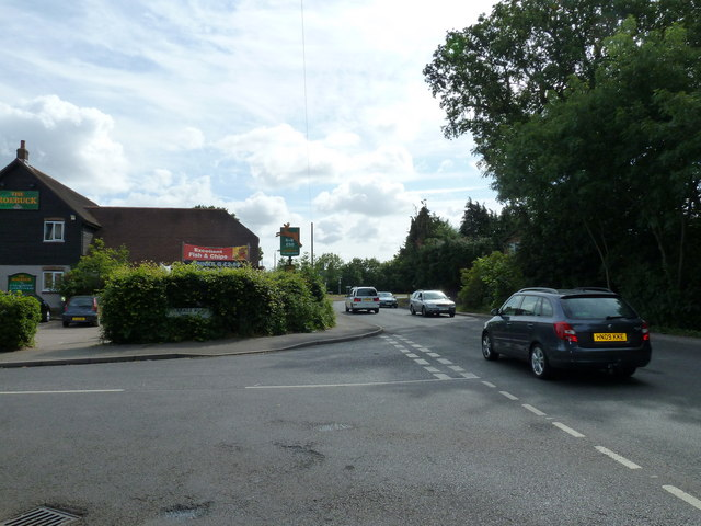 Junction of Vicarage Road and Oakland Drive