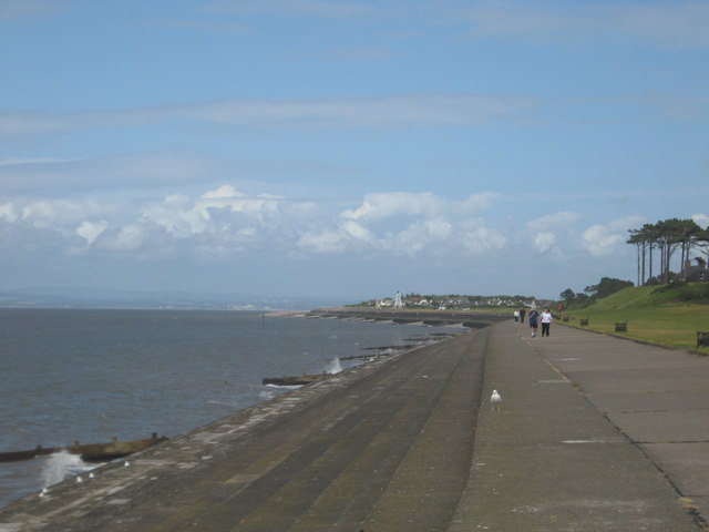 The stepped promenade at Silloth