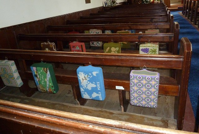 St John the Apostle, Marchwood- kneelers and pews