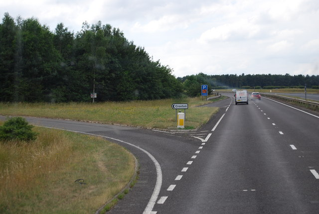 Turn off to Croxton, A11