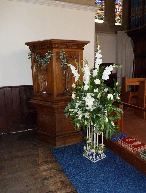 St John the Apostle, Marchwood- pulpit